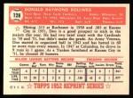 1952 Topps REPRINT #128  Don Bollweg  Back Thumbnail