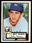 1952 Topps REPRINT #175  Billy Martin  Front Thumbnail
