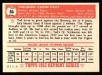 1952 Topps REPRINT #86  Ted Gray  Back Thumbnail