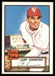 1952 Topps REPRINT #203  Curt Simmons  Front Thumbnail