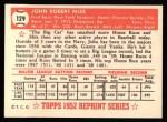 1952 Topps REPRINT #129  Johnny Mize  Back Thumbnail