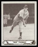 1940 Play Ball Reprint #42  Bud Thomas  Front Thumbnail