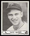 1940 Play Ball Reprint #219  Russ Bauers  Front Thumbnail