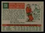 1959 Topps #131  Deron Johnson  Back Thumbnail