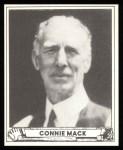 1940 Play Ball Reprint #132  Connie Mack  Front Thumbnail