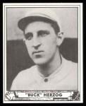 1940 Play Ball Reprint #229  Buck Herzog  Front Thumbnail