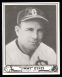 1940 Play Ball Reprint #187  Jimmy Dykes  Front Thumbnail