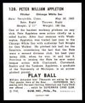 1940 Play Ball Reprint #128  Pete Appleton  Back Thumbnail