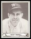 1940 Play Ball Reprint #21  Rick Ferrell  Front Thumbnail