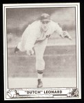 1940 Play Ball Reprint #23  Dutch Leonard  Front Thumbnail