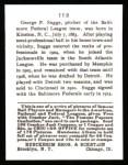 1915 Cracker Jack Reprint #113  George Suggs  Back Thumbnail