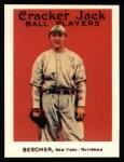 1915 Cracker Jack Reprint #110  Bob Bescher  Front Thumbnail