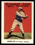 1915 Cracker Jack Reprint #59  Harry Gessler  Front Thumbnail