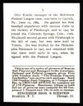1915 Cracker Jack Reprint #1  Otto Knabe  Back Thumbnail