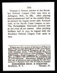 1915 Cracker Jack Reprint #100  Thomas Seaton  Back Thumbnail