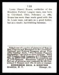 1915 Cracker Jack Reprint #128  Steve Evans  Back Thumbnail