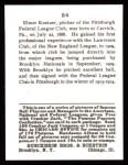 1915 Cracker Jack Reprint #84  Elmer E. Knetzer  Back Thumbnail