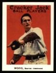 1915 Cracker Jack Reprint #22  Joe Wood  Front Thumbnail