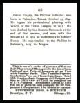 1915 Cracker Jack Reprint #60  Oscar Dugey  Back Thumbnail