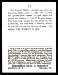 1915 Cracker Jack Reprint #53  Otto Miller  Back Thumbnail