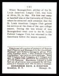 1915 Cracker Jack Reprint #131  Geo. Baumgardner  Back Thumbnail