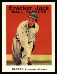1915 Cracker Jack Reprint #141  Cy Barger  Front Thumbnail