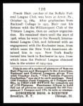 1915 Cracker Jack Reprint #126  Walter Blair  Back Thumbnail