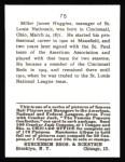 1915 Cracker Jack Reprint #75  Miller Huggins  Back Thumbnail