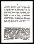 1915 Cracker Jack Reprint #118  Ed Konetchy  Back Thumbnail
