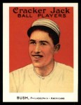 1915 Cracker Jack Reprint #166  Joe Bush  Front Thumbnail