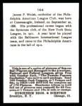 1915 Cracker Jack Reprint #144  James C. Walsh  Back Thumbnail
