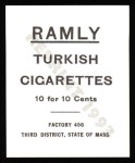 1909 T204 Ramly Reprint #77  Matty McIntyre  Back Thumbnail