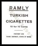 1909 T204 Ramly Reprint #70  Harry Lord  Back Thumbnail