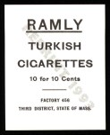 1909 T204 Ramly Reprint #58  Miller Huggins  Back Thumbnail
