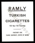 1909 T204 Ramly Reprint #7  Frank Bancroft  Back Thumbnail