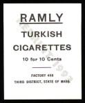 1909 T204 Ramly Reprint #38  Mike Donlin  Back Thumbnail