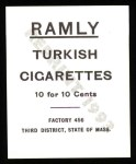 1909 T204 Ramly Reprint #36  Bill Dineen  Back Thumbnail
