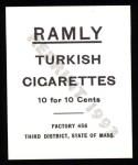 1909 T204 Ramly Reprint #80  Clyde Milan  Back Thumbnail