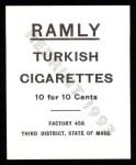 1909 T204 Ramly Reprint #92  Dode Paskert  Back Thumbnail