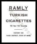 1909 T204 Ramly Reprint #118  Joe Tinker  Back Thumbnail