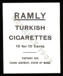 1909 T204 Ramly Reprint #30  Wid Conroy  Back Thumbnail
