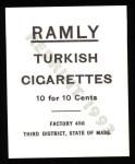 1909 T204 Ramly Reprint #32  Doc Crandall  Back Thumbnail