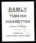 1909 T204 Ramly Reprint #21  Bobby Byrne  Back Thumbnail