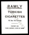 1909 T204 Ramly Reprint #61  Tom Jones  Back Thumbnail