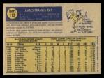 1970 O-Pee-Chee #113  Jim Ray  Back Thumbnail