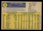 1970 O-Pee-Chee #160  Phil Niekro  Back Thumbnail