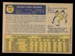 1970 O-Pee-Chee #193  Mike Wegener  Back Thumbnail