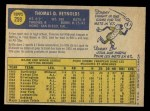 1970 O-Pee-Chee #259  Tommie Reynolds  Back Thumbnail
