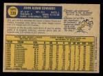 1970 O-Pee-Chee #339  Johnny Edwards  Back Thumbnail