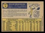 1970 O-Pee-Chee #28  Billy Wilson  Back Thumbnail